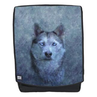 Blauer Wolfschlittenhund Rucksack