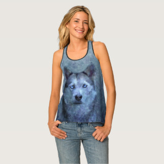 Blauer Wolfschlittenhund Tanktop