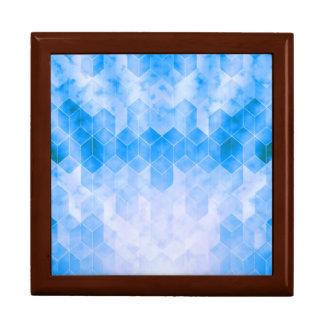 Blauer Würfel-geometrischer Entwurf Geschenkbox
