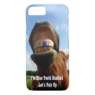 Blauer Zahn ermöglichte Pferd iPhone 8/7 Hülle