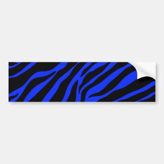 blauer Zebra Autoaufkleber