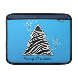 Blauer Zebra-Weihnachtsbaum Sleeve Fürs MacBook Air