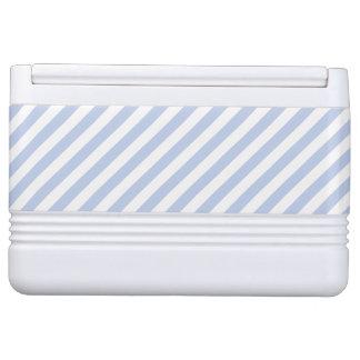 Blauer Zelt-Streifen Alices im englischen Kühlbox