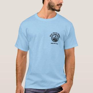 Blauer Zug bucht Logo-Shirt T-Shirt