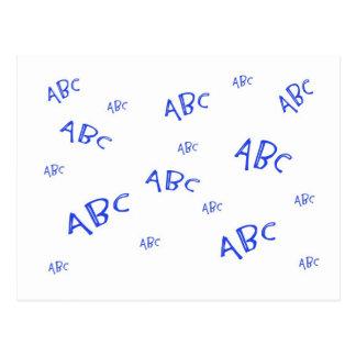 Blaues ABC ` s Postkarte