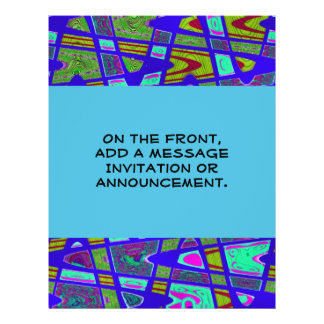 Blaues abstraktes 21,6 x 27,9 cm flyer