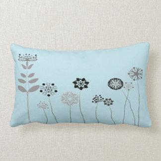blaues abstraktes Blumengarten Throwkissen Lendenkissen