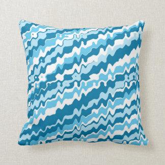 Blaues abstraktes Entwurf Throwkissen Kissen
