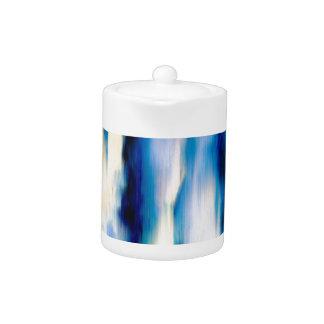 Blaues abstraktes fallendes Wasser