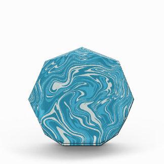 Blaues abstraktes flüssiges Muster Auszeichnung