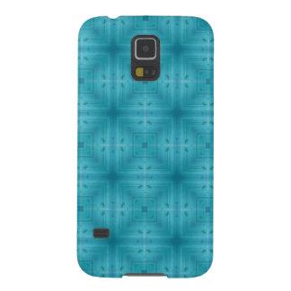 Blaues abstraktes hölzernes Muster Galaxy S5 Hülle