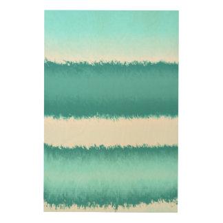 blaues abstraktes holzwanddeko