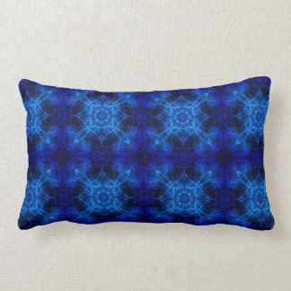 Blaues abstraktes lendenkissen