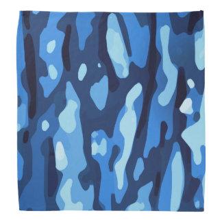 Blaues abstraktes Muster Kopftuch
