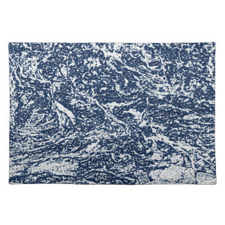 Blaues abstraktes Muster Tischset