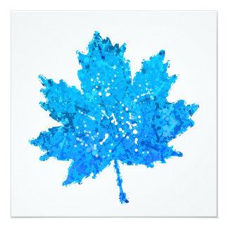Blaues Ahornblatt Karte