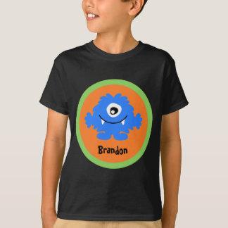 Blaues albernes Monster-personalisierter T - Shirt