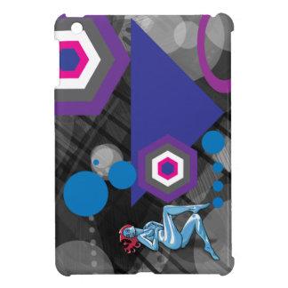 Blaues alien-Mädchen hinter der Zusammenfassung Hüllen Für iPad Mini