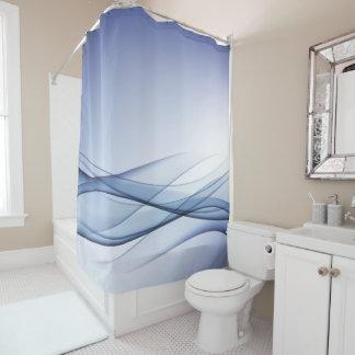 Blaues Aqua-abstrakter Duschvorhang