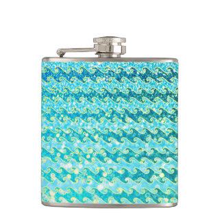 Blaues aquamarines flachmann