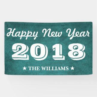 Blaues aquamarines glückliches neues Jahr 2018 des Banner
