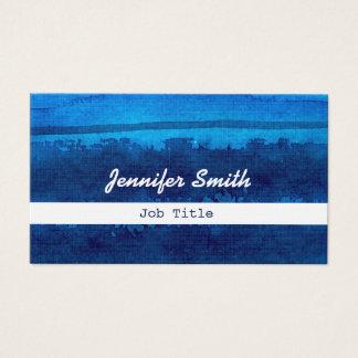 Blaues Aquarell aquarel gestreifte Visitenkarten