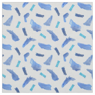 Blaues Aquarell beschmutzt Stoff