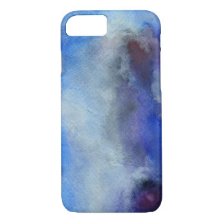 Blaues Aquarell-Kunst-Apple iPhone 7, kaum dort iPhone 8/7 Hülle
