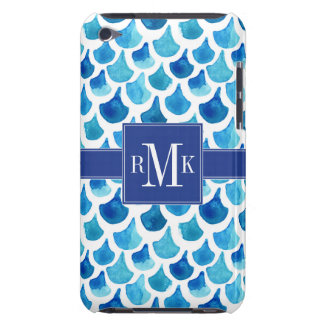 Blaues Aquarell-Skala-Muster iPod Case-Mate Case