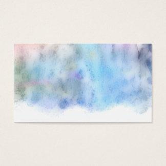 blaues Aquarell-Visitenkartedoppeltes versah mit Visitenkarten