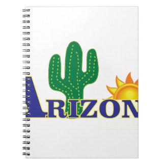 blaues Arizona Notizblock