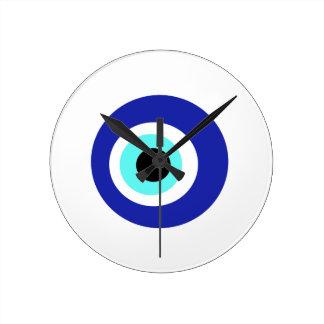 Blaues Auge Runde Wanduhr