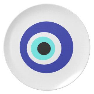 Blaues Auge Teller