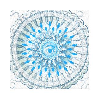 Blaues Augemandala-Kunst-Leinwand Leinwanddruck