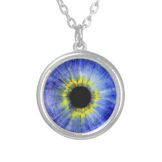 Blaues Augen-hängender Halsketten-drittes Halskette Mit Rundem Anhänger