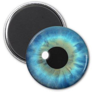 Blaues Augen-Iris-Augapfel-coole kundenspezifische Runder Magnet 5,1 Cm