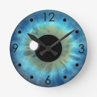 Blaues Augen-Iris-Augapfel-kundenspezifische Runde Wanduhr