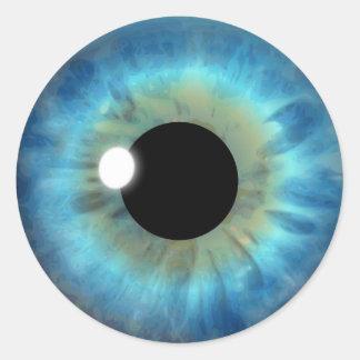 Blaues Augen-Iris-cooler Runder Aufkleber