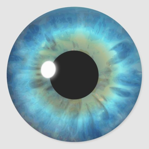 Blaues Augen-Iris-cooler Augapfel-kundenspezifisch Runder Aufkleber