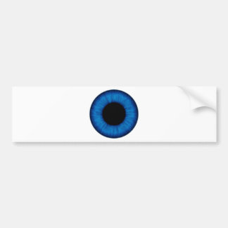 Blaues Augen-nahes hohes Halloweens Autoaufkleber
