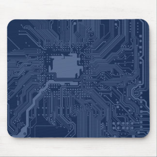 Blaues Aussenseiter-Motherboard-Stromkreis-Muster Mousepad