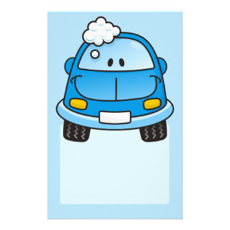 Blaues Auto mit Blasen Flyer