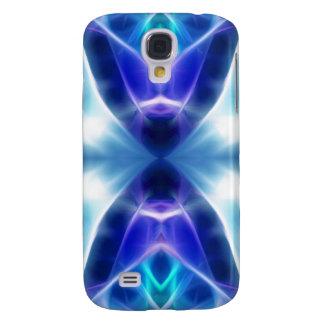 Blaues aztekisches abstraktes Fraktal Design Galaxy S4 Hülle