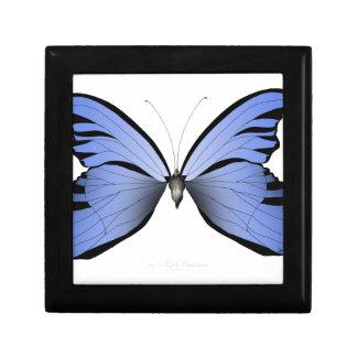 Blaues azurblauer Jäger des Schmetterlings-1 Schmuckschachtel
