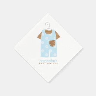 Blaues Baby-Ausstattungs-Babyparty Serviette