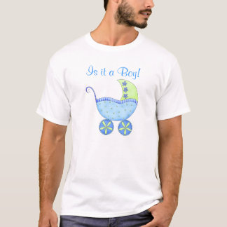 Blaues Baby-Buggy ist es eines Jungen-Vatis T-Shirt