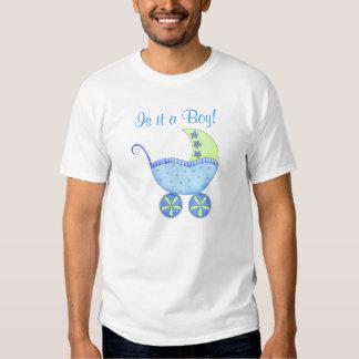Blaues Baby-Buggy ist es eines Jungen-Vatis Tshirt