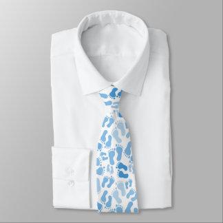 Blaues Baby-Fuß druckt Hals-Krawatte Personalisierte Krawatte