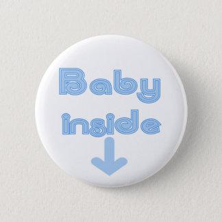 Blaues Baby-Innere - besonders angefertigt Runder Button 5,7 Cm