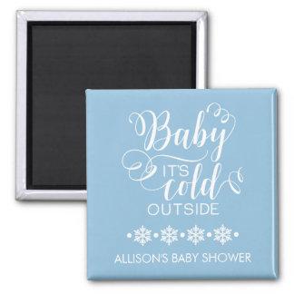 Blaues Baby ist es kalter Quadratischer Magnet